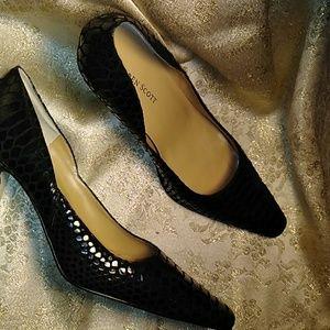 Karen Scott Snake Print heels